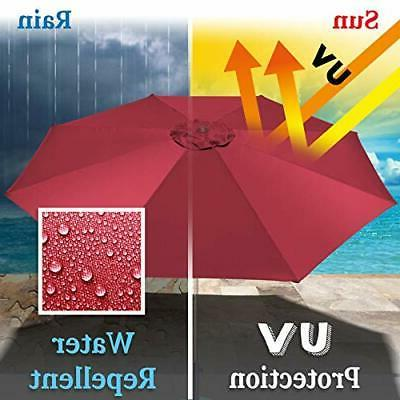 Umbrella Cover Canopy 13ft 8 Rib Replacement Top Outdoor-burgundy