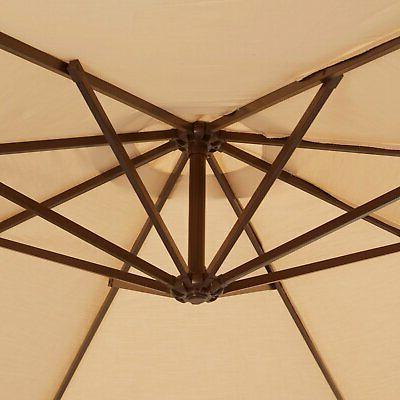 Island ft. Octagonal Cantilever Umbrella with Valance