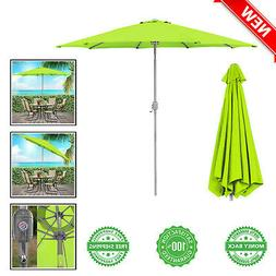 Large Outdoor Patio Sun Shade w/ Crank Tilt Adjustment 9ft B