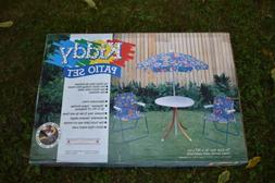 New In Box Linens N Things Kiddy Patio Umbrella Table Set Wi