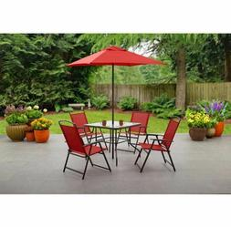 Outdoor Dining Set Patio Furniture Folding Table Chairs Umbr
