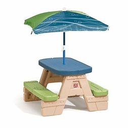 Outdoor Patio Summer Kids Toy  Sit and Play Kids Picnic Tabl