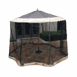Outdoor Patio Umbrella Mosquito Screen Netting  9ft to 11ft