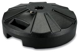 Patio Cantilever Offset Umbrella Base Stand Black Stainless