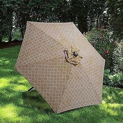 Outdoor Patio Umbrella Canopy Arabesque Taupe 7.5'