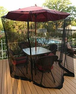 Patio Umbrella Mosquito Netting - Polyester Mesh Screen with