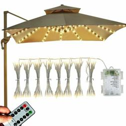 Abkshine Patio Umbrella String Lights,Battery Operated 8 x 1