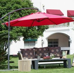 Patio Umbrellas Clearance Outdoor 10 Foot 10ft Offset Cantil