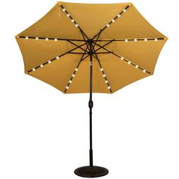 Solar Powered 32 LED Lighted Outdoor Patio Umbrella with Cra