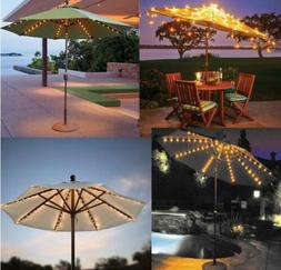WaterProof Patio Umbrella Lights Cordless String with Remote